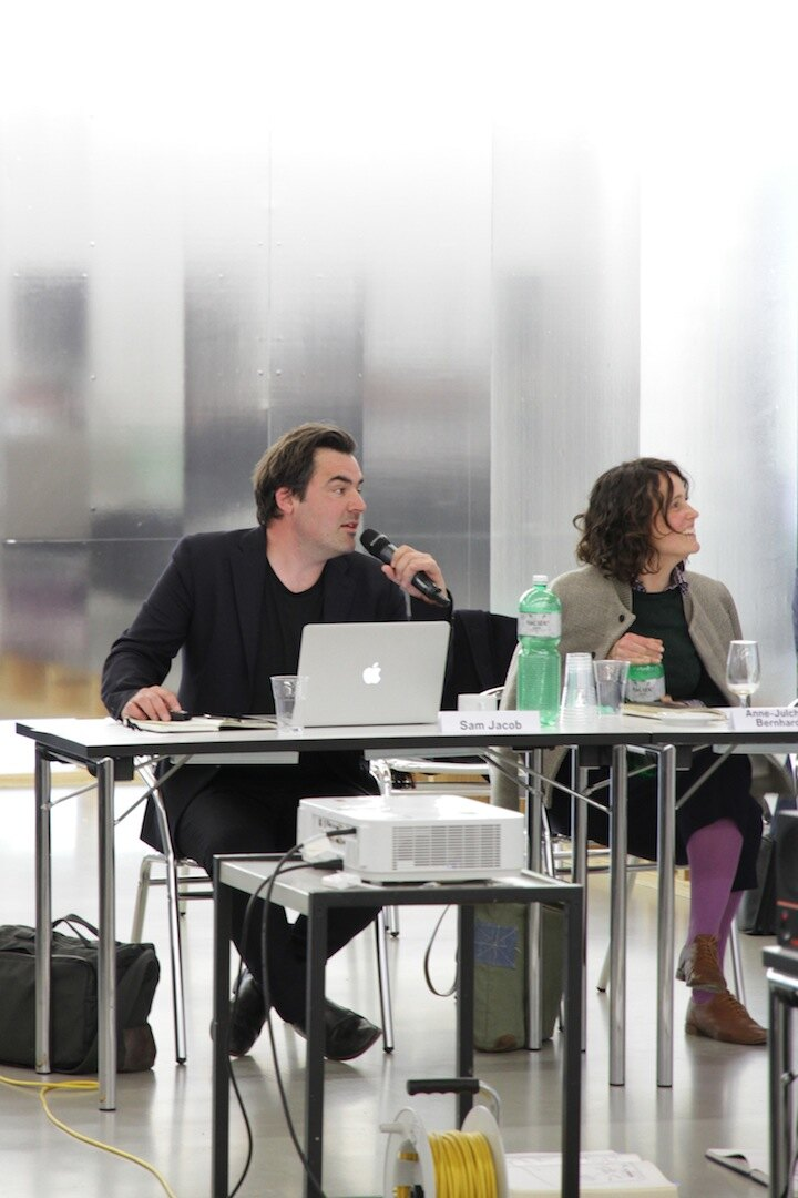 Sam Jacob (Sam Jacob Studio) und Anne-Julchen Bernhardt (BeL Architekten) bei ARCH+ features 49: One Day with John Hejduk