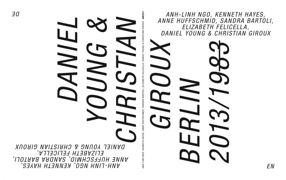 ARCH+: Kiosk » English Publications » Berlin 2013/1983