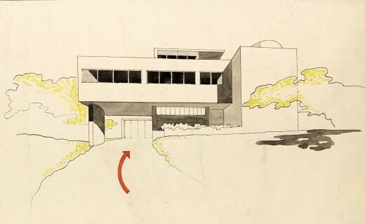 Designs for a house by Sir Leslie Martin and Sadie Speight, 1935, (c) RIBA Collections