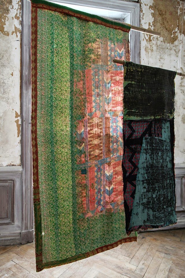 "Exhibition with ""Out of the Ordinary"" textiles at Domaine de Boisbuchet, France, in the exhibition ""Boro – The Fabric of Life"". Photograpy: Elif Akçay"