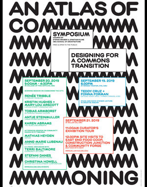Designing for a Commons Transition, Symposium,  19–21 September,  Carnegie Mellon University, PIttsburgh USA